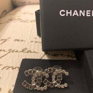 Authentic Chanel CC earring
